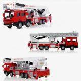Baru 1:50 Diecast Skala Udara Truk Pemadam Kebakaran Kendaraan Konstruksi Mainan Model Mobil - 4