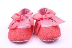 New Baby Shoes Bow Princess Shoes Baby Shoes School Shoes 0-1 Years Old 1505 Pink