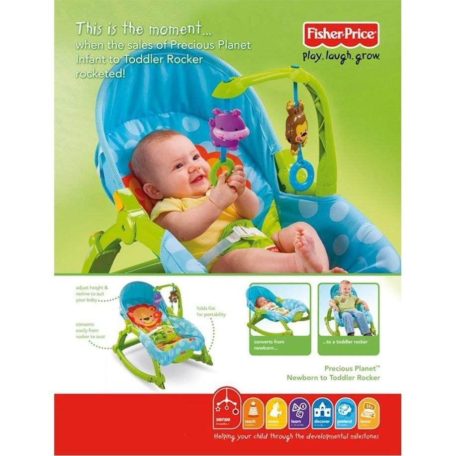 New Born to Toddler Portable Rocker with Calming Vibrations Plastics Design ( Green )
