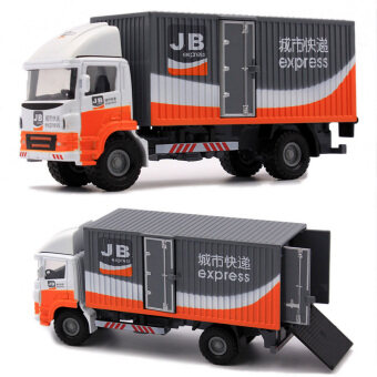 New fine state alloy truck model alloy Container Car freight carpostal car children's toy car models