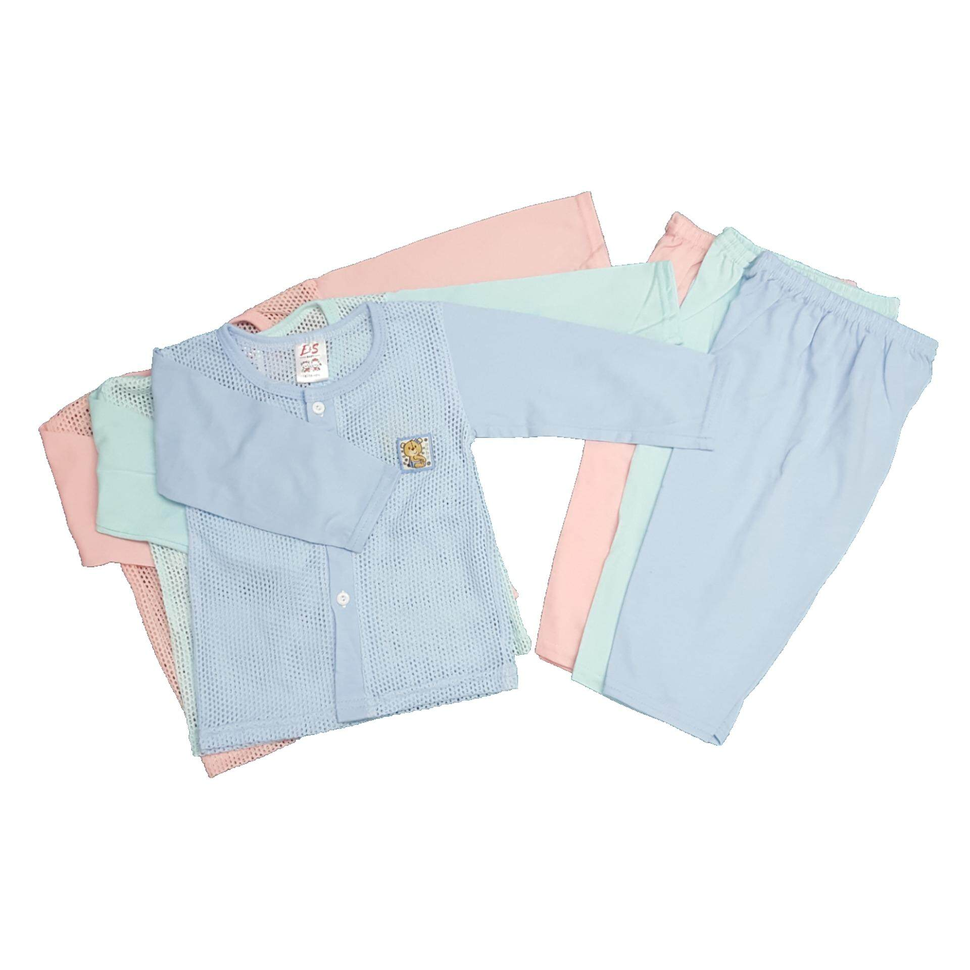 NewBorn & Baby 3 SET Eyelet Baby Pajamas (Fit to Age: 6-18Mth Mass:8-12kg Height:69-80CM)
