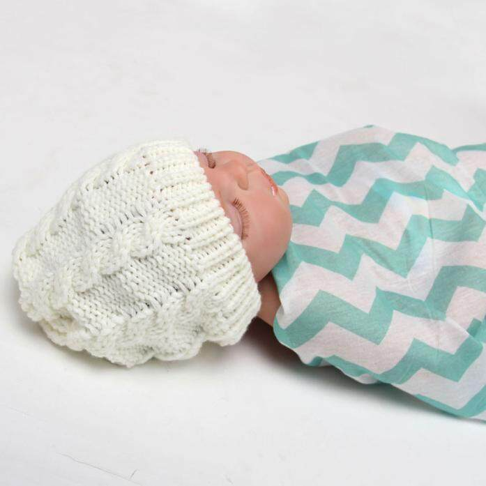 Bayi Perempuan Baru Lahir Bayi Balita Bayi Merajut Wol Memutar Topi Lembut Topi Tutup Wh-