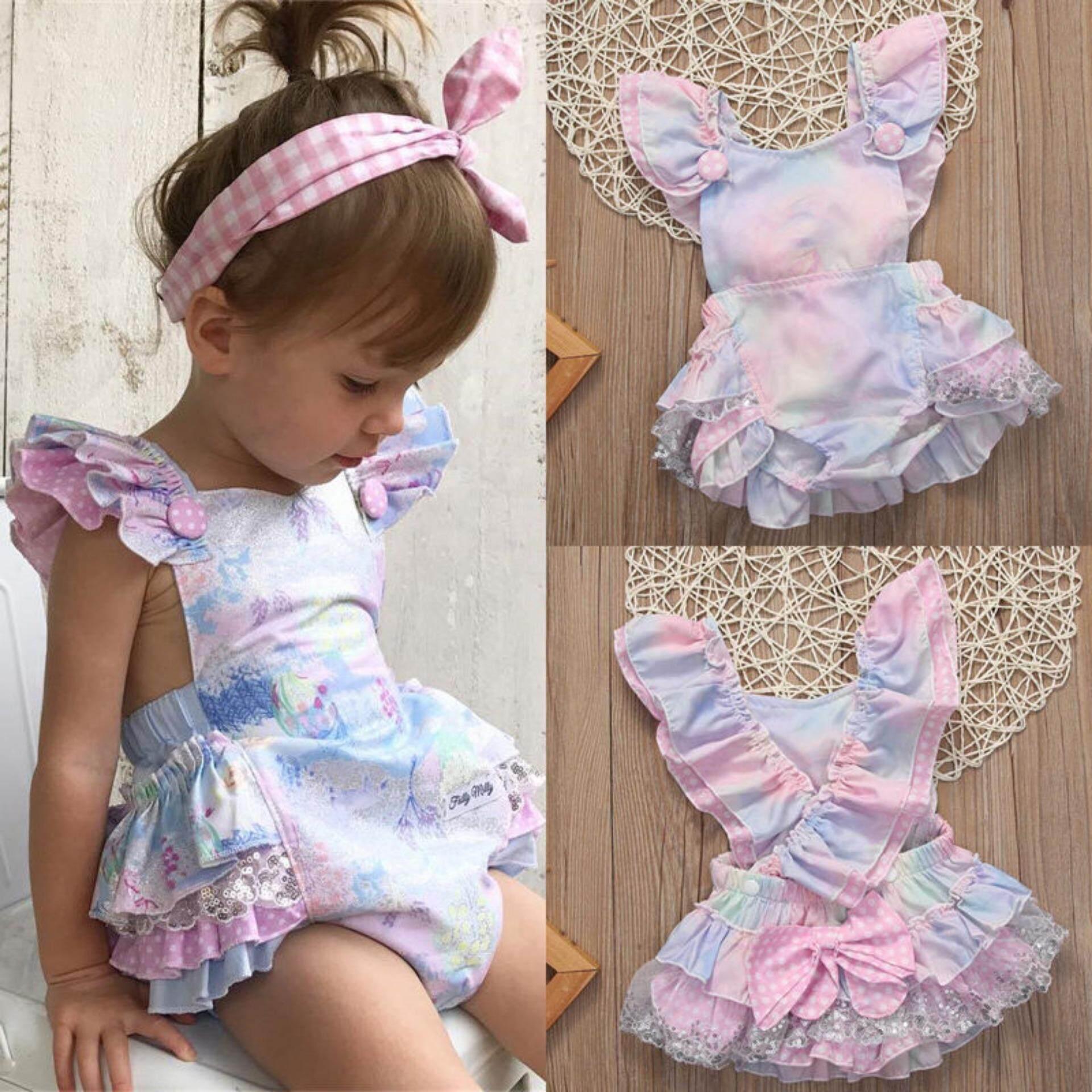 Bayi Baru Lahir Bayi Perempuan Bunga Bodysuit Romper Jumpsuit Pakaian Sunsuit Pakaian-Internasional - 2 ...