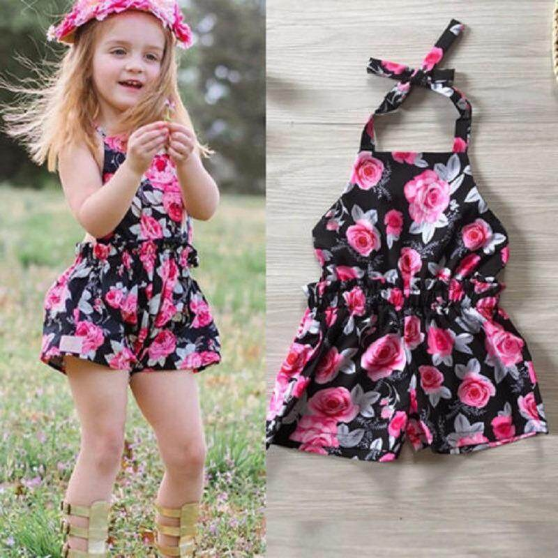 Newborn Baby Girls Floral Cotton Casual Romper Jumpsuit Bodysuit Outfits Clothes - intl