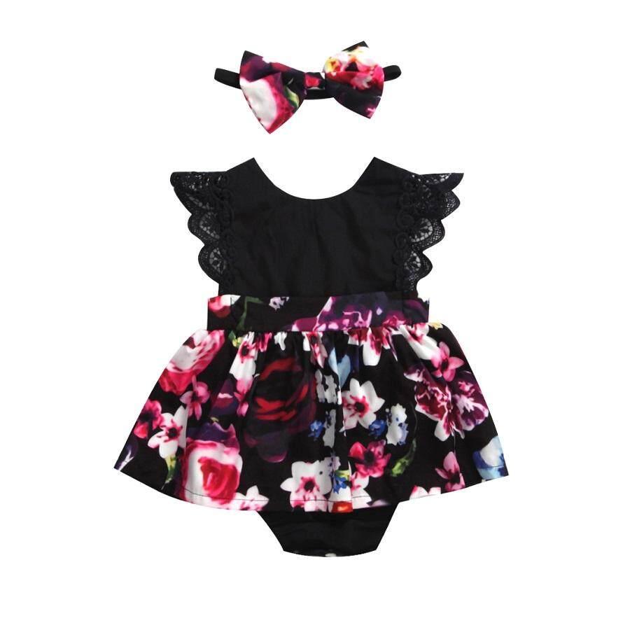 Baru Lahir Bayi Anak Perempuan Sister Sesuai Bunga Jumpsuit Baju Monyet Gaun Outfits Set (Hadir ...