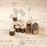 ... niceEshop 10PCS Creative Rustic Real Wood Base Wedding Table Name Number Holder Party Decoration Card Holders ...
