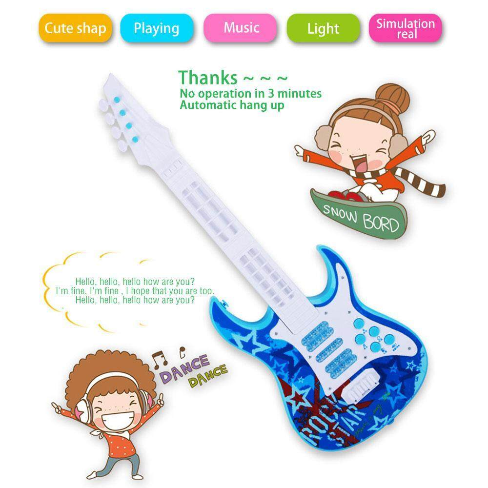 niceEshop Hot Sale Children Kids 4 Strings Guitar Music Instrument Toy Rhyme Developmental Education Music Toy - intl
