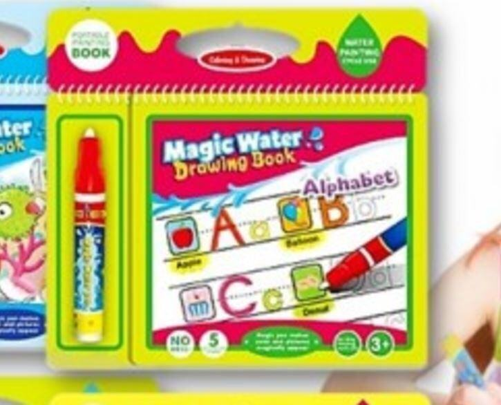 Non Toxic Magic Water Drawing Coloring Book Alphabet