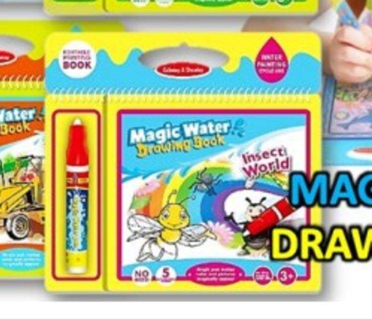 Non Toxic Magic Water Drawing Coloring Book - Insect Workd