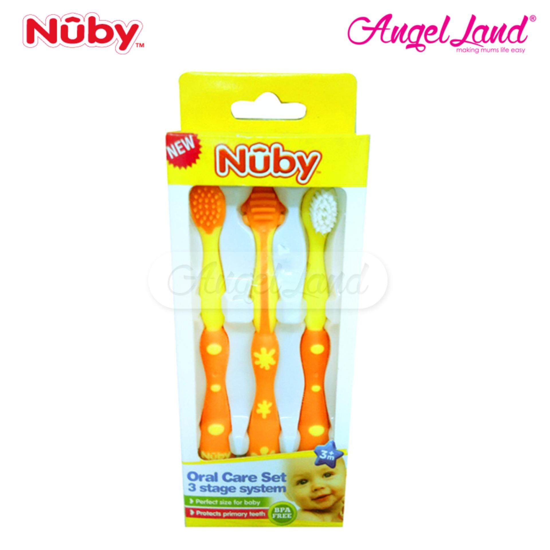 Nuby 3 Stage Oral Care Set - Orange NB759