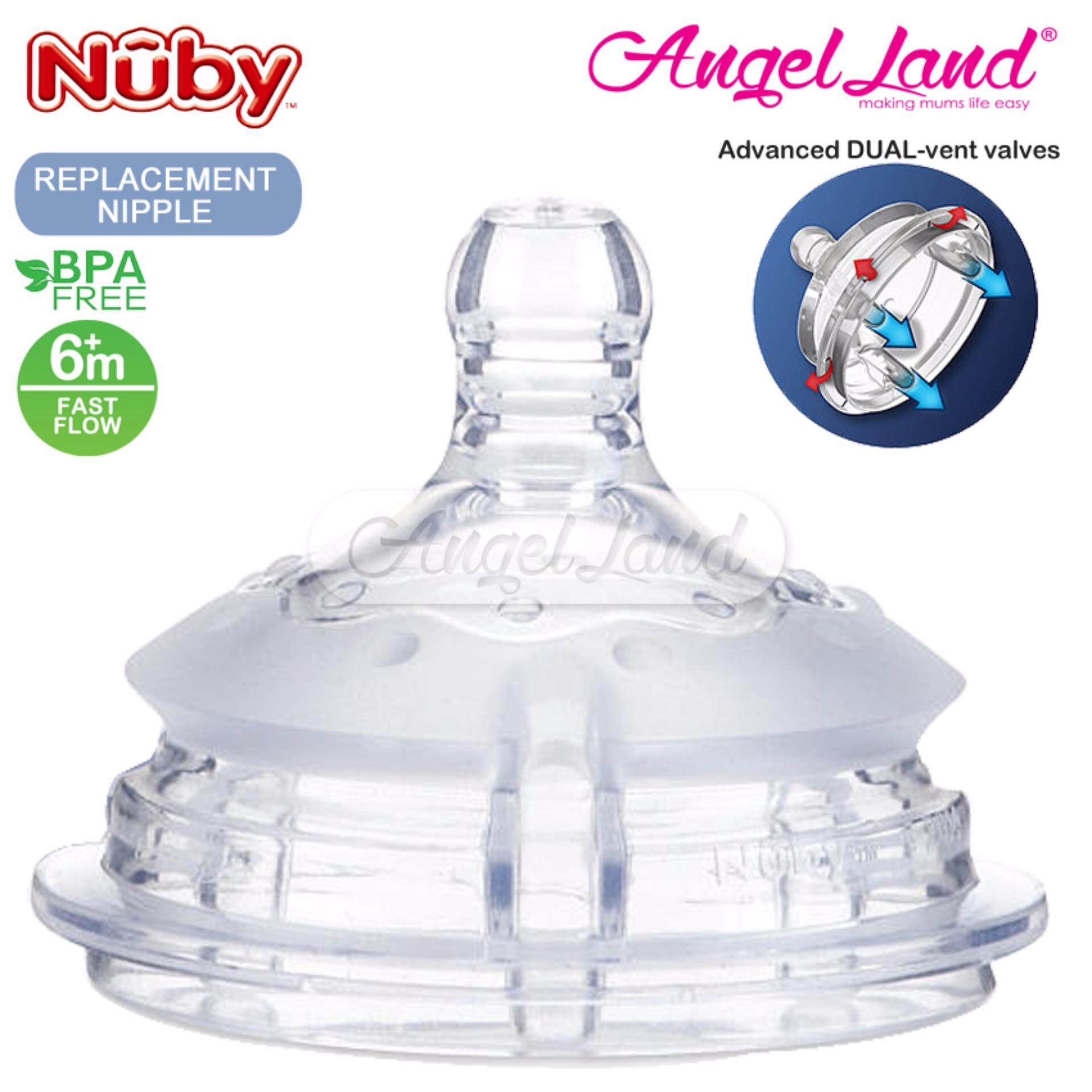Nuby Replacement for Silicone Comfort Bottle (Fast Flow) - 50506