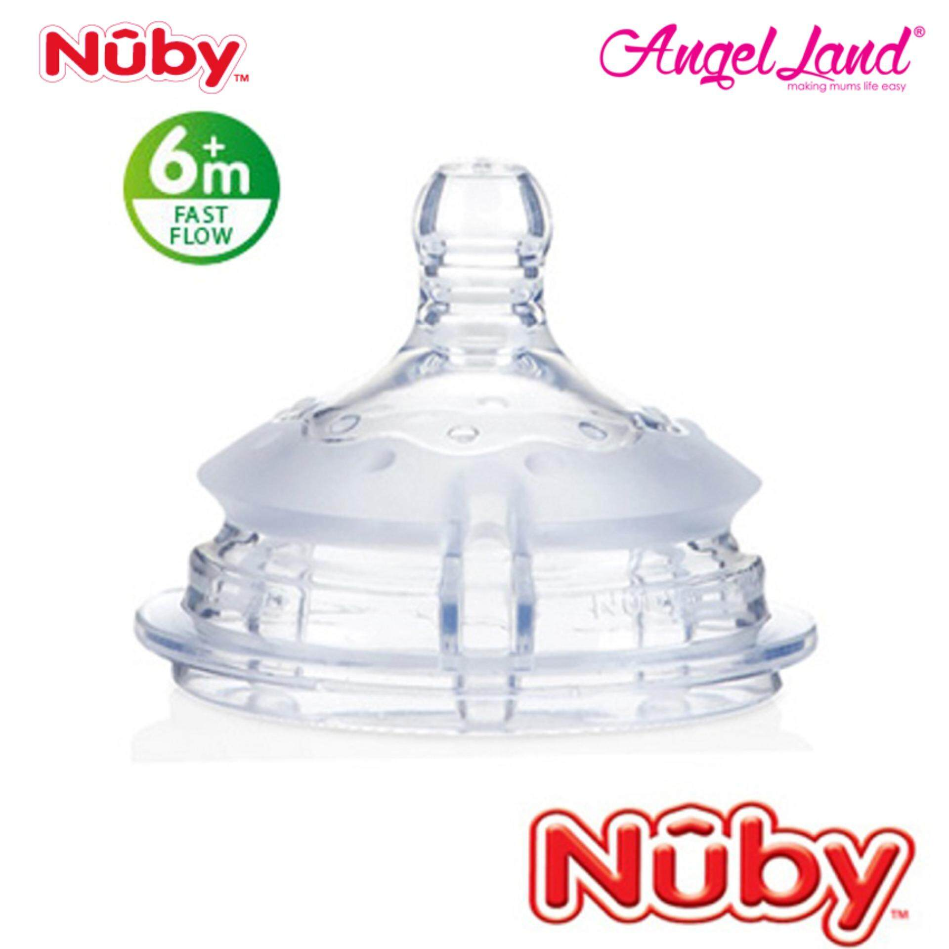 Nuby Replacement for Silicone Comfort Bottle Fast Flow (6m+) NB50506
