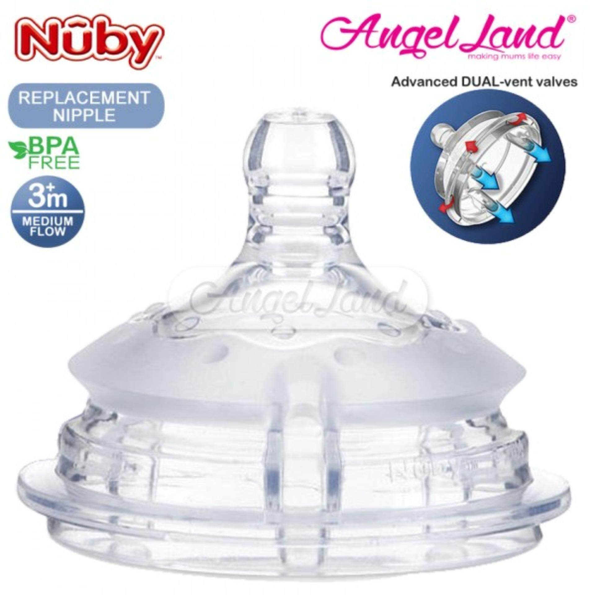 Nuby Replacement for Silicone Comfort Bottle Medium Flow (3m+) NB50505