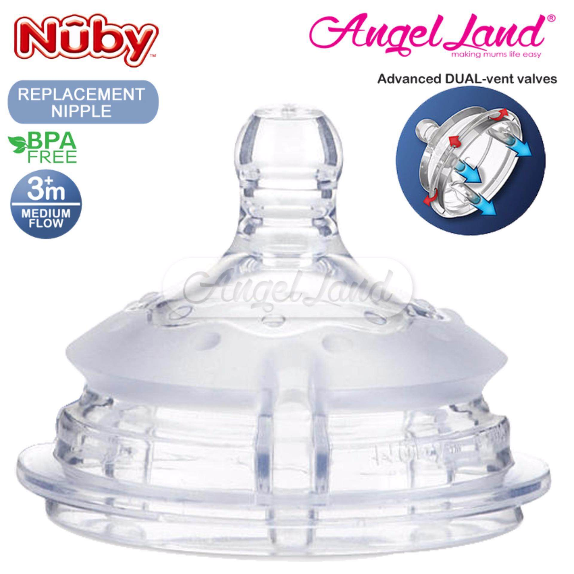 Nuby Replacement for Silicone Comfort Bottle (Medium Flow) - 50505