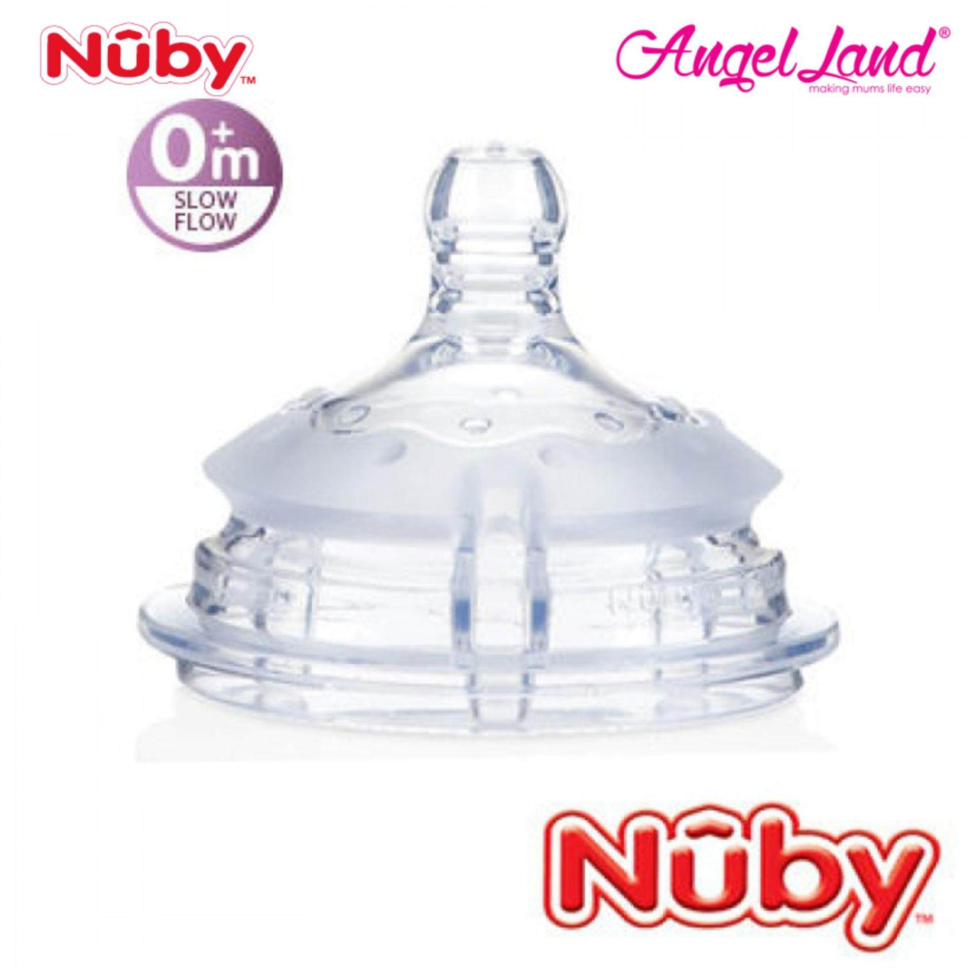 Nuby Replacement for Silicone Comfort Bottle Slow Flow (0m+) NB50504