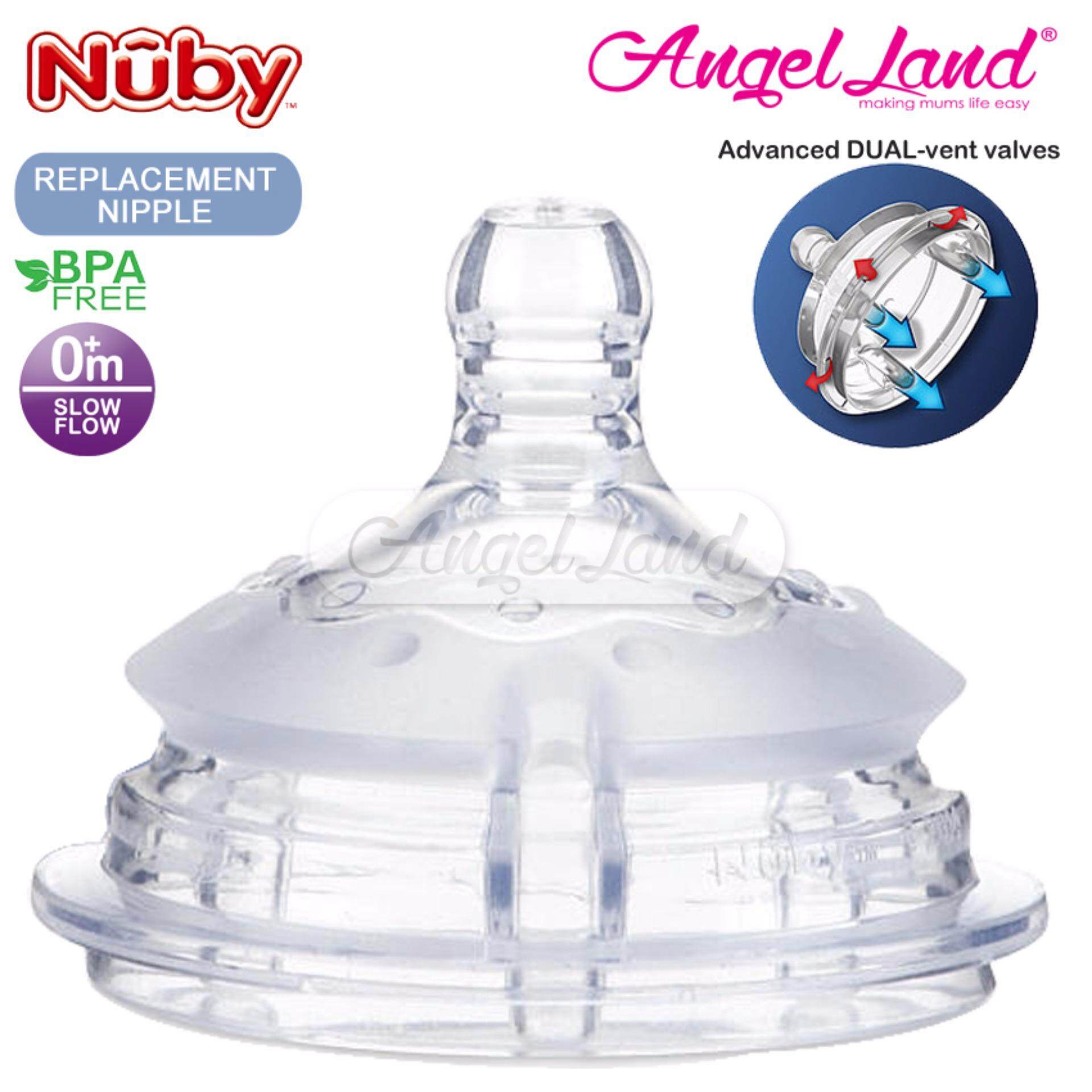 Nuby Replacement for Silicone Comfort Bottle (Slow Flow) - 50504