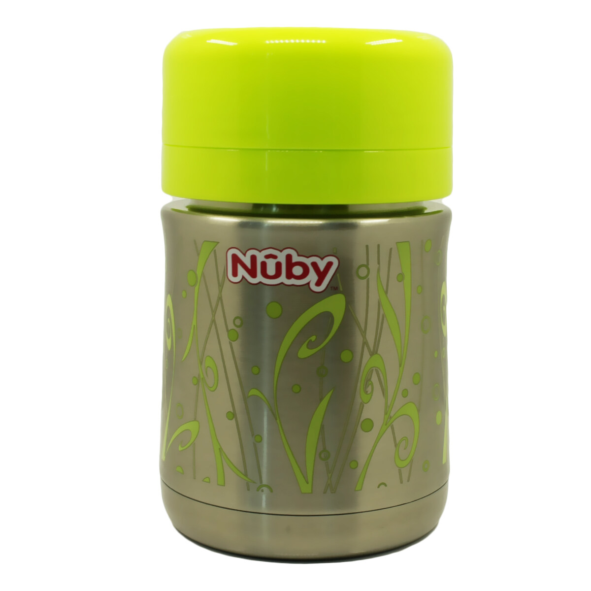 Nuby Stainless Steel Vacuum Insulated Food Jar With Spoon - (Green) 05470