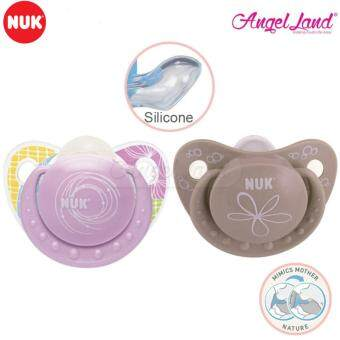 Harga NUK Silicone Adore Orthodontic Soother - Purple Coco 6-18m(NU40735612PG)