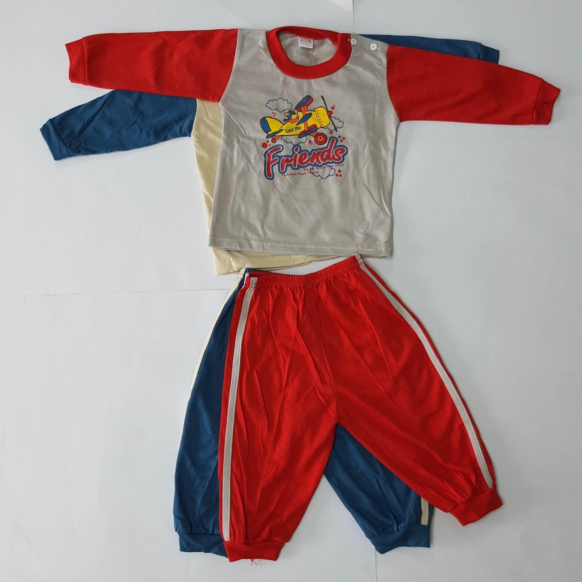 Bundle Wholesale !! 2 Set 1 Baby pajamas (Fit to Age: 6-18Mth Mass:8-12kg Height:69-80CM)