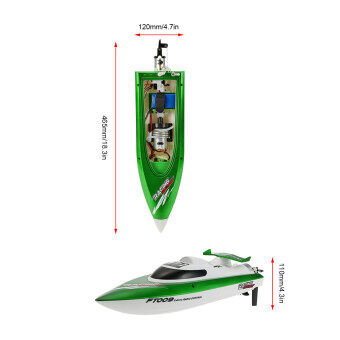 Original Feilun FT009 2.4G 30km/h High Speed RC Racing Boat withWater Cooling Self-righting System - 4