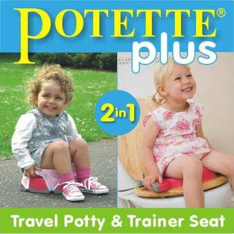 Original Kalencom Potette Plus 2 in 1 Portable Potty (Grey) - 2