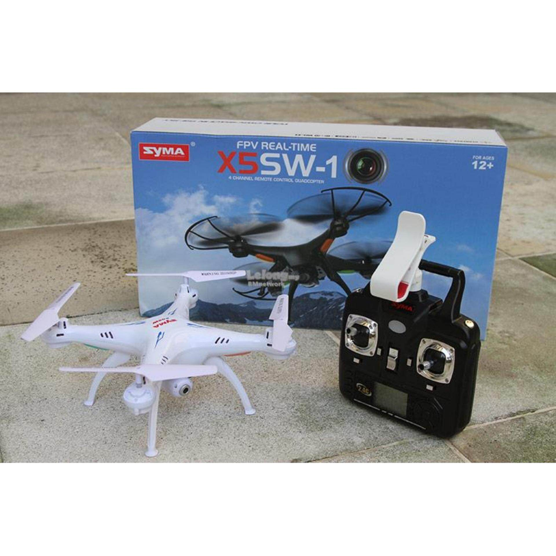 Original Syma X5SW Drone 2.4GHz Real Time WiFi FPV 6 Axis Quadcopter + 1 extra battery