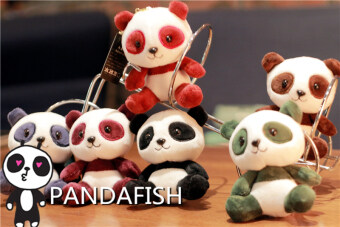 [Pandafish] Chengdu Jin in width Lane PANDA flavor doll pendant keybuckle car hanging Decorative Products