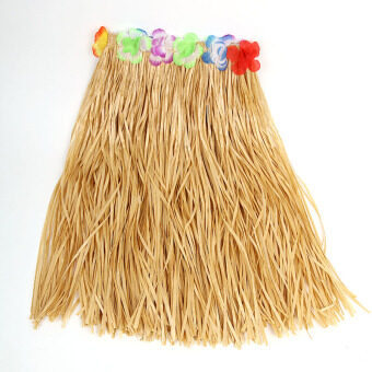 Harga Party Magic Square Hawaiian grass skirt adult grass skirt suit huladance clothing 60 cm multi-color can be selected