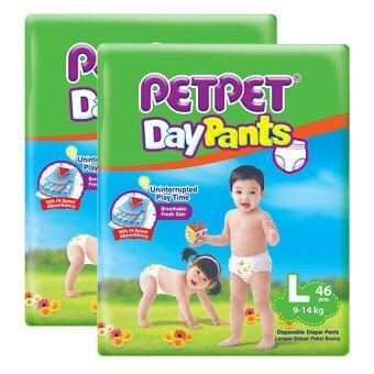 PETPET DayPants Diaper Jumbo Packs L46 (2packs)