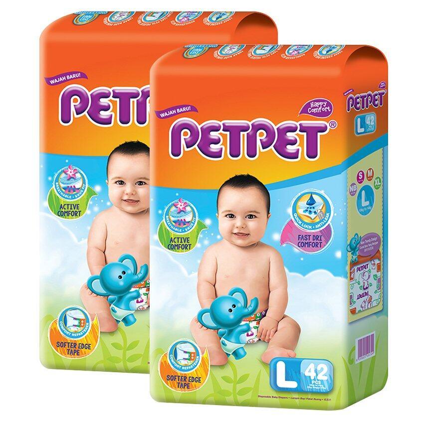 PETPET Tape Diaper Jumbo Packs L42 (2packs)