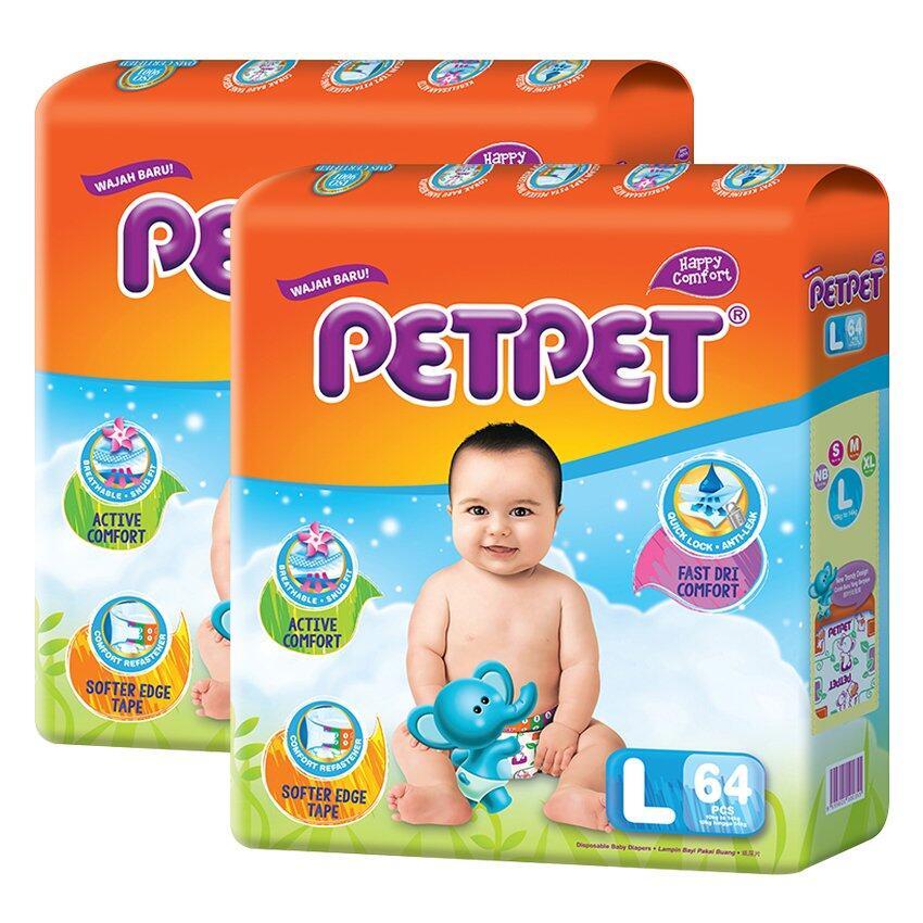 PETPET Tape Diaper Mega Packs L64 (2packs)