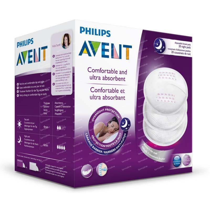 Philips Avent Disposable Breast Pads Night 20's SCF253/20