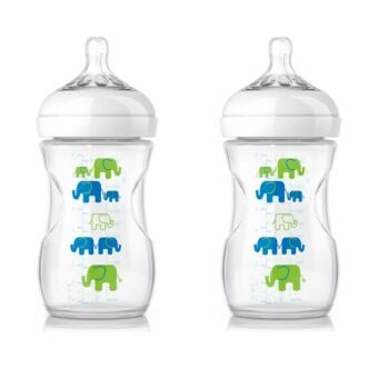 Philips Avent Natural Bottle Elephant Design (Blue Green) x 2
