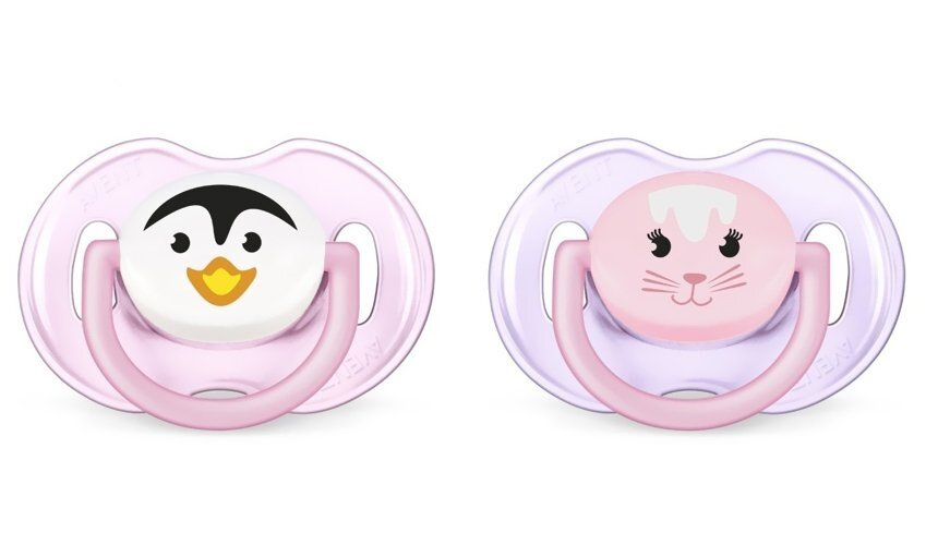 Philips Avent Soother Animal Range 0-6 Month Twin Pack Pink