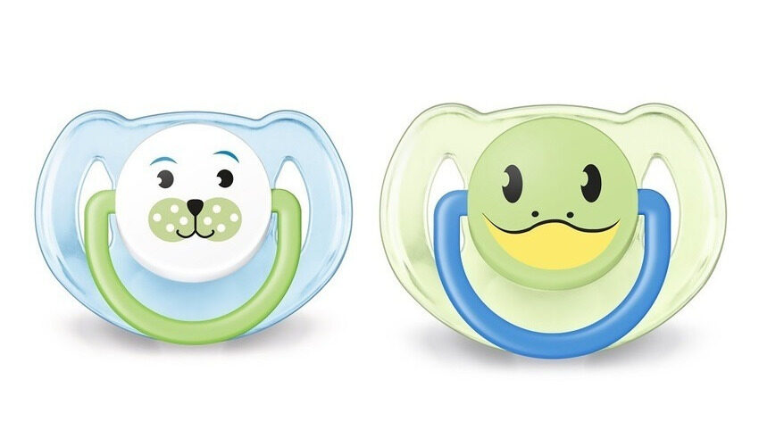 Philips Avent Soother Animal Range 6-18 Month Twin Pack Blue