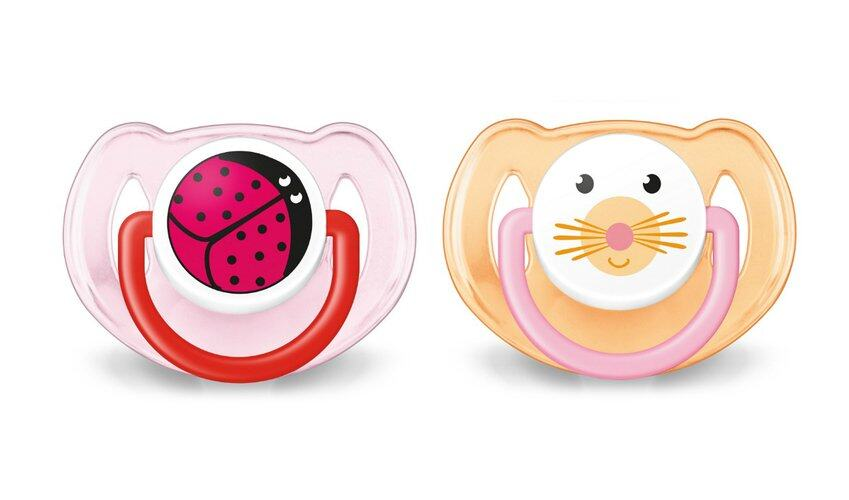 Philips Avent Soother Animal Range 6-18 Month Twin Pack Pink