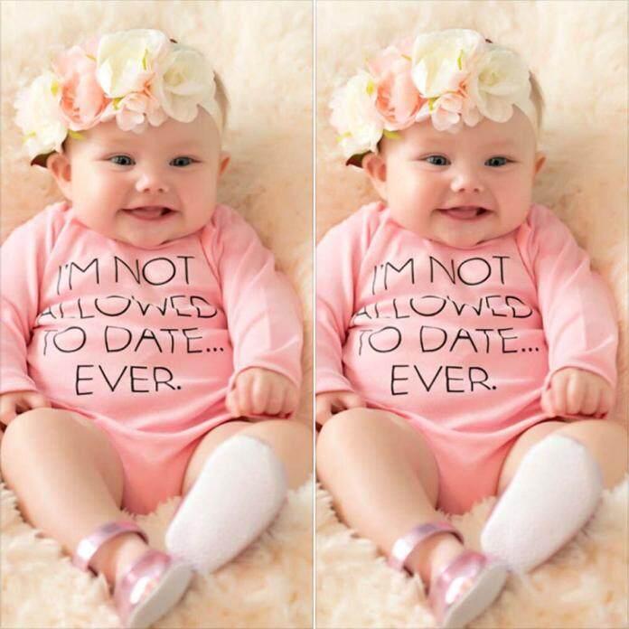Merah Muda Baru Lahir Bayi Perempuan Baju Baju Bodysuit Romper Jumpsuit Playsuit Pakaian 100-Internasional