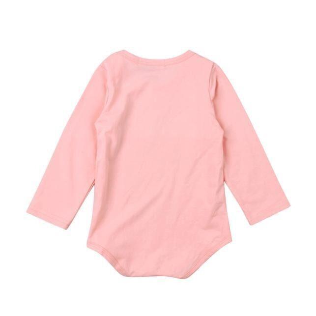 ... Merah Muda Baru Lahir Bayi Perempuan Baju Baju Bodysuit Romper Jumpsuit Playsuit Pakaian 100-Internasional ...