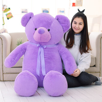 Harga Plush toys teddy bear doll purple Butterfly knot big hug bear clothdoll Valentine's Day birthday gift to send girls