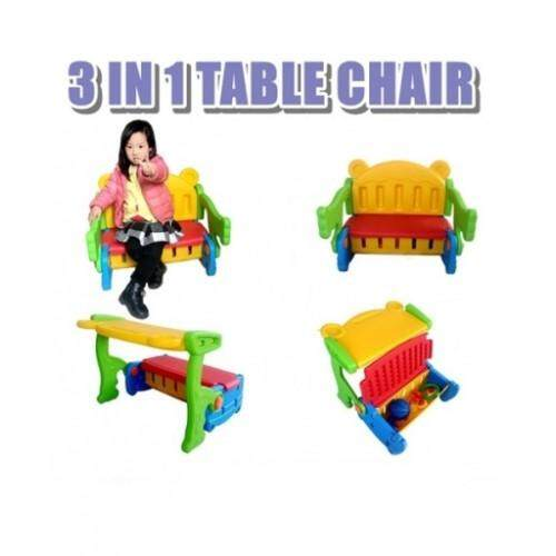 Portable Kids 3in1  Table Chair [Storage Box/Study/Meal/Drawing/Bench Toys]