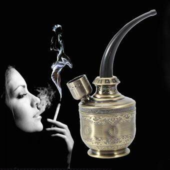 Portable Retro Water Smoke Smoking Pipe Shisha Hookah Filter Holder(Bronze)