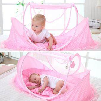 Harga Portable Soft Baby Crib 0-3 Years Bedding Mosquito Net Foldable Bed Cotton Sleep Travel Beds Cribs Pillow Mat Setat Set