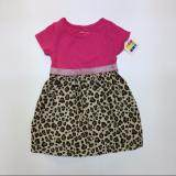PREMIUM QUALITY Dress Suit Pink with Leopard Print Skirt for Girls - Pink