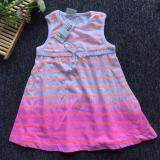 PREMIUM QUALITY Gradient Stripe Sleeveless Dress for Girls Toddlers