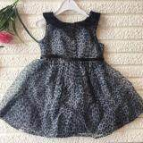 PREMIUM QUALITY Leopard Dress for Girls - Black