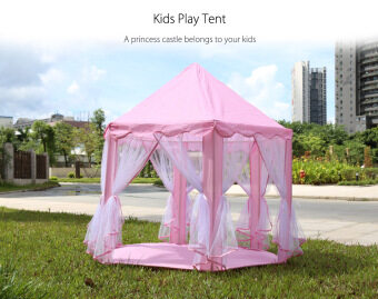 Harga Princess Castle Play Tent Fairy House Playhouse Toy(Light pink)