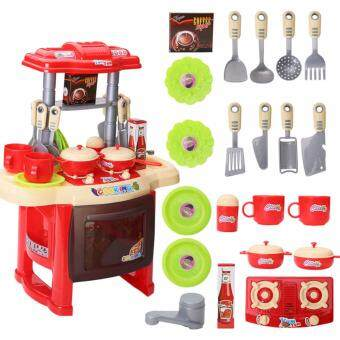 Pro Kids Simulation Kitchen Toys Children Play Toys Baby KitchenToys Set Cooking Pretend Role Toy Play Set Lights Sound Electronic