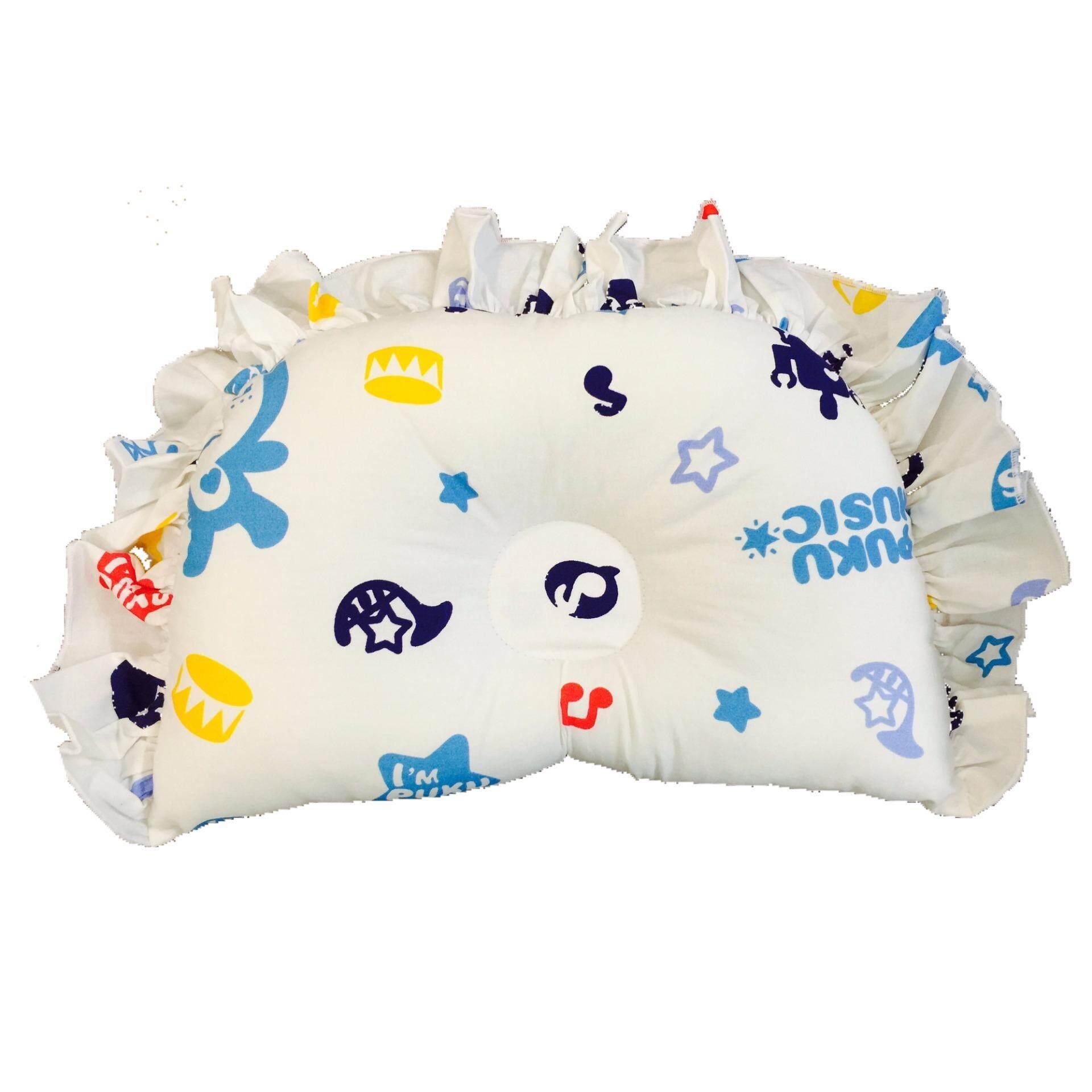 PUKU 100% Cotton Hollow Pillow SP91124 Music BLUE Design
