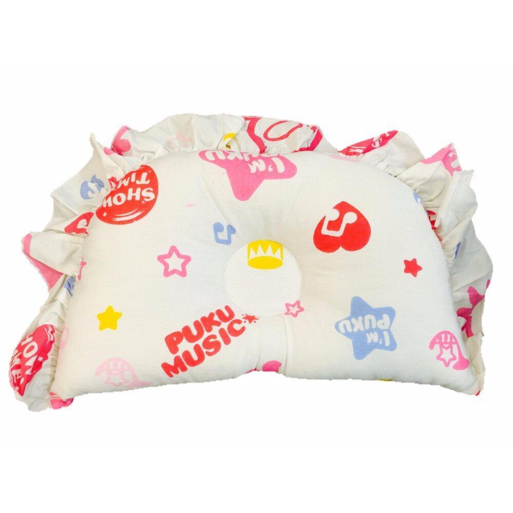 PUKU 100% Cotton Hollow Pillow SP91124 Music PINK Design