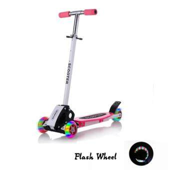 Harga QNIGLO Young Style Foldable Wheel Balance Kick Scooter with FlashWheels